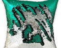 Подушка антистресс с пайетками-перевертышами хамелеон/серебро фото 2