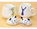 Чашка с крышкой Кот в галстуке, 400мл фото 1