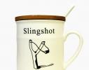 Чашка с крышкой Old Classic Рогатка фото