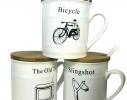 Чашка с крышкой Old Classic Велосипед фото 1