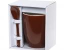 Чашка с ложкой Original Brown