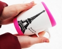 Чашка с силиконовой крышкой Париж