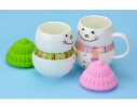 Чашка с крышкой Снеговик, 400мл фото 1