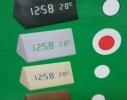 Часы Wooden Clock белые треугольные фото 1
