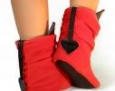 Тапочки Чертики красные с черными рожками фото 1