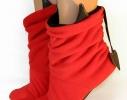 Тапочки Чертики красные с черными рожками фото
