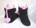 Тапочки Чертики черные с розовыми рожками фото 1