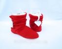 Тапочки Чертики красные с белыми рожками фото