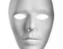 Карнавальная маска белая безликая фото