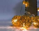 Гирлянда Шарик Золото проволока LED 20 фото 3