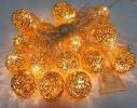 Гирлянда Шарик Золото проволока LED 20 фото 4