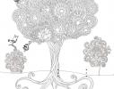 Обои-раскраски Дерево 60х60см фото
