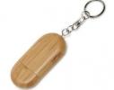 Бамбуковая флешка - брелок с колпачком 8Гб фото 1