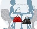 Держатель для сумки Бриллиант с зеркалом фото 2