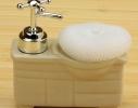 Дозатор для мыла с мочалкой Умывальник
