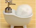 Дозатор для мыла с мочалкой Ванна