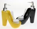 Дозатор для мыла со щеткой Туфелька
