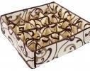 Коробочка для белья на 24 секции Молочный Шоколад фото 1
