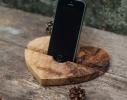 Подставка из дерева Сердце фото