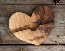 Подставка из дерева Сердце фото 2