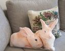 Подушка Рыжие кролики фото 1