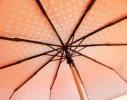 Зонт с рюшами Горошек антишторм красный фото 1