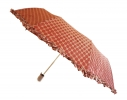 Зонт с рюшами Горошек антишторм капучино фото 1