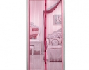 Дверная антимоскитная сетка Magnetic Mesh на магнитах бордовая фото