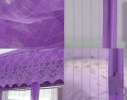 Дверная антимоскитная сетка Magnetic Mesh на магнитах фиолетовая фото 1