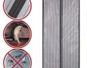 Дверная антимоскитная сетка Magnetic Mesh на магнитах серая фото 4