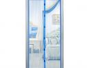 Дверная антимоскитная сетка Magnetic Mesh на магнитах синяя фото