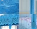 Дверная антимоскитная сетка Magnetic Mesh на магнитах синяя фото 1