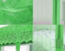 Дверная антимоскитная сетка Magnetic Mesh на магнитах зеленая фото 1