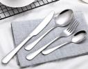 Набор столовых приборов 4 предмета серебро фото