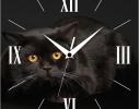 Часы квадратные Черный кот фото