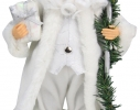 Дед Мороз в белой шубе 30,5см фото