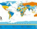 Scratch map настенная карта мира на русском языке с гербом Украины фото