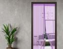 Антимоскитная шторка NOT FLY на сплошном магните 210 x 100 см. Фиолетовая фото