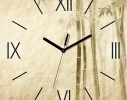 Часы квадратные Бамбук Беж фото