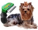 Фурминатор зеленый для кошек и собак 6,5 см
