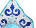 Кокошник Снегурочки Узор голубой с белым фото 1