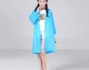 Плащ-дождевик детский голубой фото