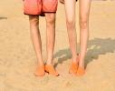 Тапочки аквашузы для пляжа и бассейна размер S оранжевые фото 10