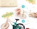 Деревянный 3D конструктор-раскраска «Велосипед» фото 1