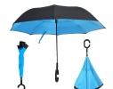 Ветрозащитный зонт обратного сложения UP-brella однотонный фото 7