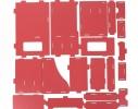 Комод настольный для канцтоваров, косметики, украшений Красный фото 3