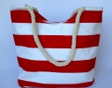Летняя текстильная сумка для пляжа и прогулок в морском стиле фото