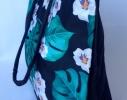 Летняя текстильная сумка для пляжа и прогулок Лилии фото 1