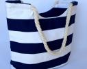 Летняя текстильная сумка для пляжа и прогулок в морском стиле фото 3