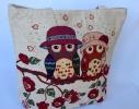 Летняя текстильная сумка для пляжа и прогулок Совы фото